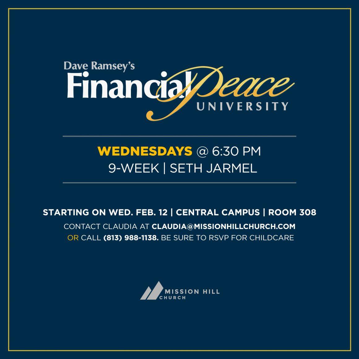 FEB. 12 // FINANCIAL PEACE UNIVERSITY BEGINS