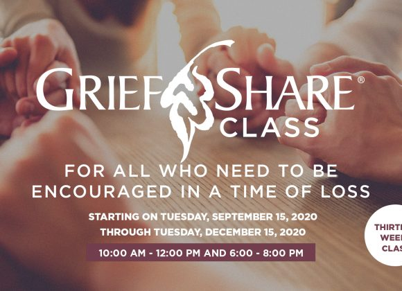 SEPT 15 – DEC 15 // GRIEFSHARE CLASSES
