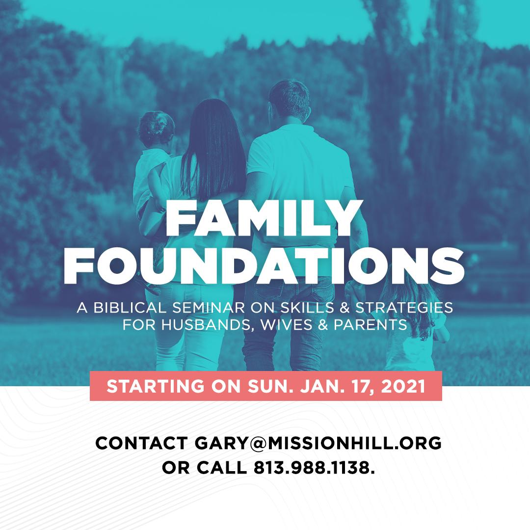BEGINNING JAN 17 // BIBLICAL FAMILY SEMINAR